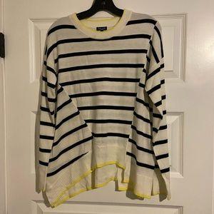 Splendid cashmere blend striped sweater- M